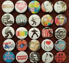 Elvis Presley Rock & Roll Button Badges x 25. Pins. Wholesale. Collector Bargain