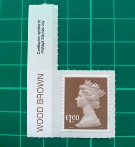 2016 £1 Wood Brown Machin M16L COLOUR TAB SINGLE