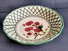"Raymond Waites Cornucopia  Raspberry Lattice Soup 8.5"" Bowl Certified Int'l"