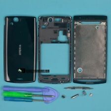black Full Housing Cover Case For Sony Ericsson Xperia Arc S X12 LT18i LT15i