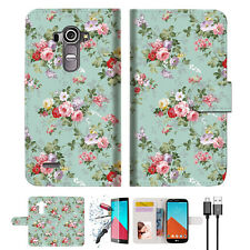 Royal Garden Wallet TPU Case Cover For LG G4-- A023