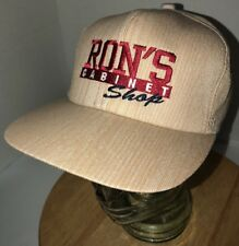 VTG RON'S CABINET SHOP 80s USA K-Products Wood Grain Trucker Hat Cap Snapback