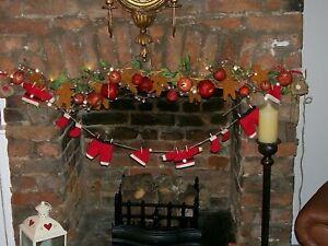 SANTA'S WASHING LINE BUNTING GARLAND XMAS FIREPLACE DECORATION CHRISTMAS TREE