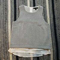 Banana Republic Women's Bonded Lace Layered Shell Tank Blouse Size Small S