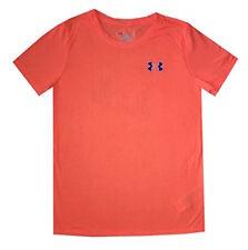 NEW Under Armour 1262538 Women UA Short Sleeve Crew Athletic T-Shirt, Orange XL