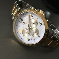 Ladies Tommy Hilfiger Designer Watch Gold White Steel Genuine HUDSON 1791226