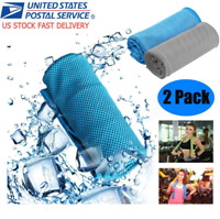 2PACK Instant Mesh Cooling Towel ICE Cold Golf Cycling Gym Sports Outdoor Towel