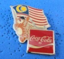 1988 Coca Cola Ltd Edition Flag Pin - Malaysia