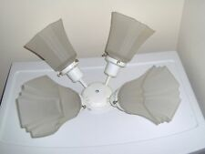 White Ceiling Mount Fan Light Fixture ( Four Light Fits In)