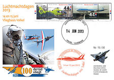 """PAF13-8T5 FDC NETHERLAND """"60 years French Patrol / ALPHAJET & MIRAGE 2000"""" 2013"""