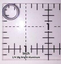 BLACK Anodized Aluminum JUMP RINGS 250 1/4 18g SAW CUT Chainmail chain mail