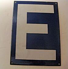 ORIGINAL VINTAGE BLUE PORCELAIN LETTER E ~ MAKE A NAME / SIGN GIFT ~  LOT 5