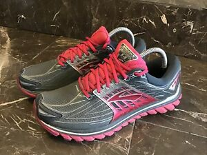 Brooks Glycerin 14 Size 9.5Running Training Athletic Azalea Pink Gray Silver EUC