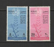 KOWEIT 2 timbres neufs 1962 Union Arabe des télécommunications /T3026