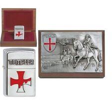 Zippo Briquet Templiers Limited Edition xxx/1000 dans la ZIPPO BOIS BOX