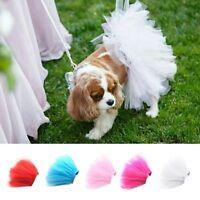Pet Puppy Dog Cat Lace Skirt Princess Tutu Dress Summer Clothes Apparel Costume