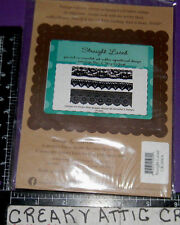 STRAIGHT LACED LACE BORDER 3 CLING RUBBER STAMPS UNITY STAMP COMPANY UK606A