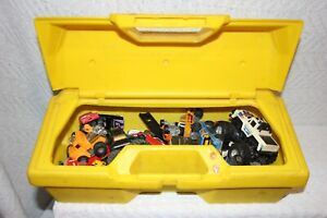 LOT OF 27 OLDER HOT WHEEL DIECAST CARS + PIECES IN A HARD GABRIEL ERECTOR CASE