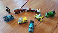 Thomas The Tank Engine Wooden Railway Train - Rocky, Percy, Spotlight & Cherry