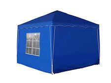 Seitenwand 2er- Set Alu Faltpavillon 3x3m Pavillon 280g/m  Qualität blau Seiten