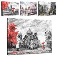 Wandbilder XXL Wohnzimmer AQUARELL Leinwand Bilder Kunstdruck Schlafzimmer Bild