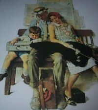 "RARE Norman Rockwell's Family ""HOME FROM VACATION"" HAPPY AND TIRED Print"