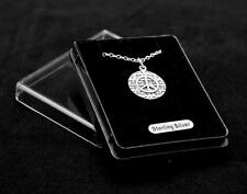 """Sterling Silver Peace Sign Pendant. Great gift! 18"""" chain Gift boxed"""