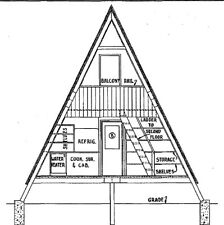 A-Frame Cabin Plans '22 x 36""