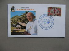 SOLOMON ISLANDS, event cover 1984, visit Pope John Paul II