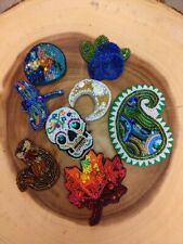 Handmade Beads / Brooch lot 4pc