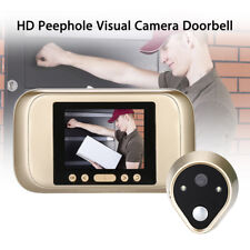 HD Visual Camera Doorbell Video Photo 3.2 Inch Home Security Audio White Light P