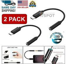 2x USB-C Type C Adapter Port to 3.5MM Aux Audio Jack Earphone Headphone Cable
