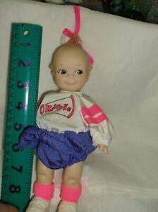 """Vintage Kewpie doll cheerleader/Rosbart jointedlegs/arms head 8"""" great condition"""