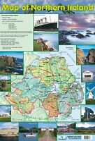 Map of Northern Ireland  . Educational Poster A2 size