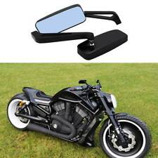 Rectangle Black Motorcycle Rear View Side Mirrors For Harley Davidson V-Rod FO