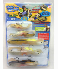 Mighty Bite Fishing Soft Plastic shad sandeels eels fish Lure kit 100 Pieces set