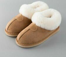 Women Fur Slippers Winter Thick Warm Plush Flat Non-slip Slip On Soft Slides