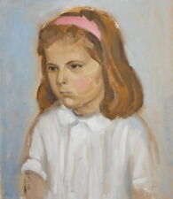 1992 IMPRESSIONIST GIRL PORTRAIT OIL PAINTING SIGNED