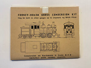 HOn30 HOn2 Brick Price Etched Brass Forney Conversion Kit