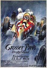 "TARGA VINTAGE ""GRAN PRIX 1934 NURBURGRING"" HISTORICAL AD, Poster, PUBBLICITA'"