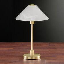 Lampada Comodino Luce da tavolo Alabastro VETRO OTTONE ANTICO Till 96201