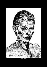 Kate Moss Cyberpunk style/street art/industrial limited edition print