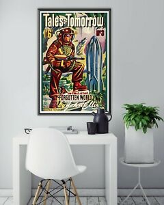 Vintage 1950 Science Fiction POSTER! - (up to 24 x 36) - Space - SciFi - Rockets