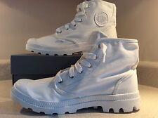 Men's Cocaine White Canvas Boots Size 9.5 Palladium Yeezy 950 Hip Hop Fire Style