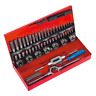 Sealey AK3015 32 Piece Metric mm Tap Taper, Second, Plug Wrench & Die Set + Case