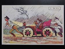 Tom Browne Comic Postcard: MOTOR CAR THEME Reproduction