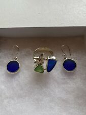 Silver Ring And Earrings Watch Hill Sea Glass And