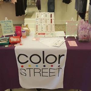 Color Street Table Runner White