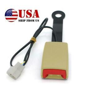 7/8'' Beige Car Seat Belt Buckle Plug Connector Warning Cable Heavy Duty Camlock