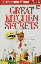 Great Kitchen Secrets Cooking Recipe Chef Tony Notaro Cookbook Hardcover Seen TV